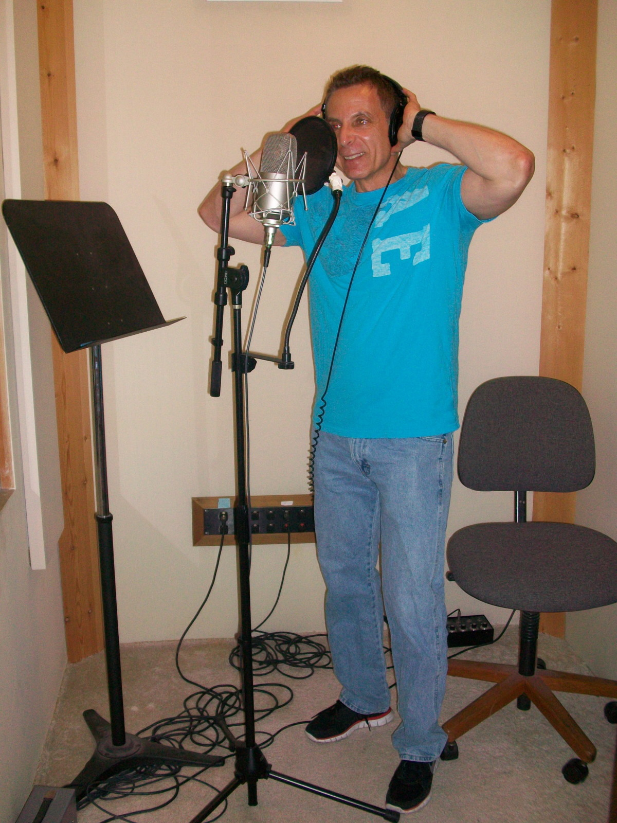 Jud in studio vocal booth