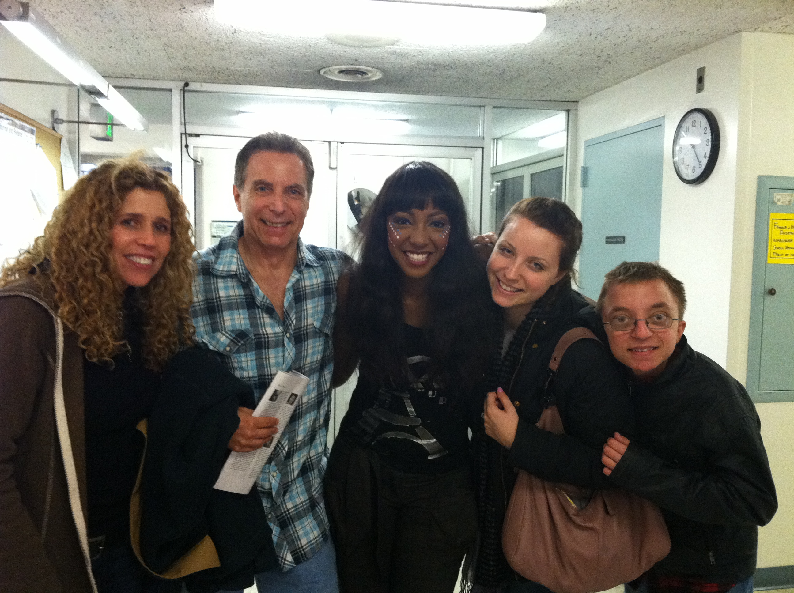 "STACY, JUD, SINGER/ACTRESS PAULETTE IVORY, ARI, MICHAEL BACKSTAGE AT ""FELA!"" 12/22/11"